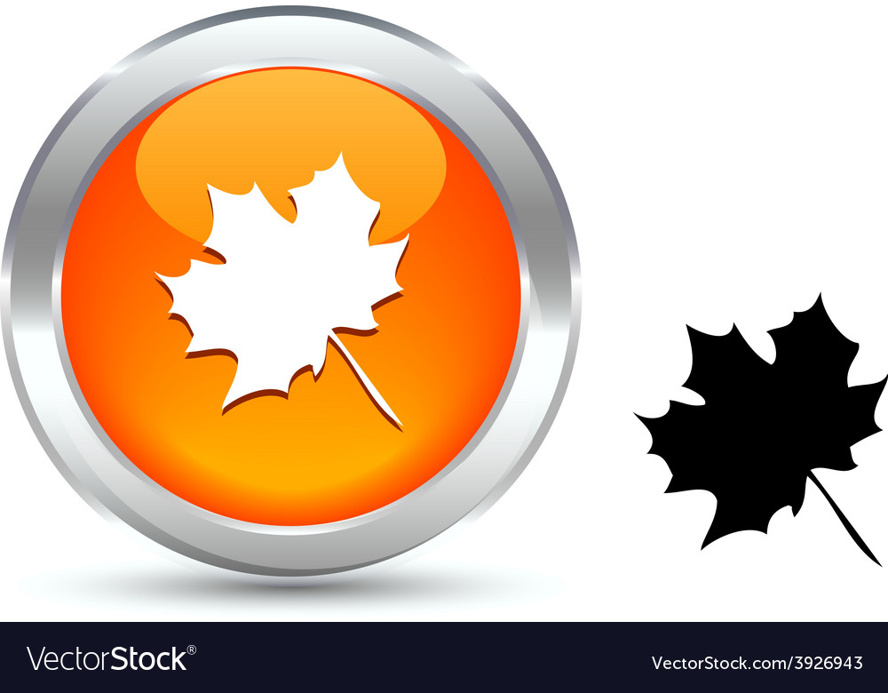 Autumn button vector | Price: 1 Credit (USD $1)