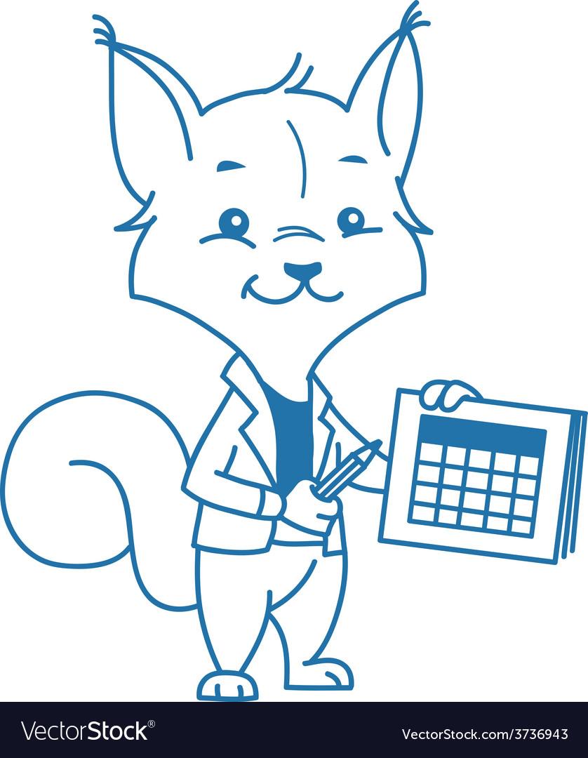 Clever squirrel vector   Price: 1 Credit (USD $1)