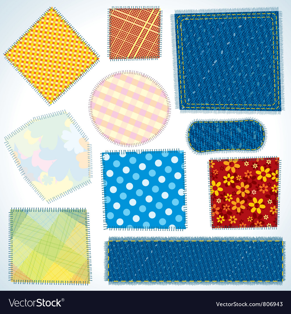 Cloth patches vector | Price: 1 Credit (USD $1)