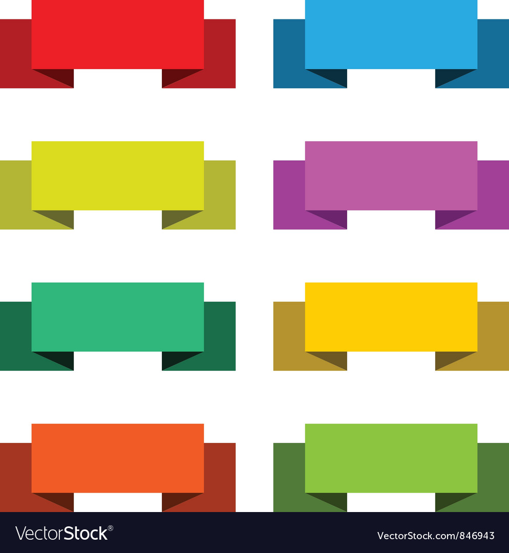 Colorful set of 8 banners vector | Price: 1 Credit (USD $1)