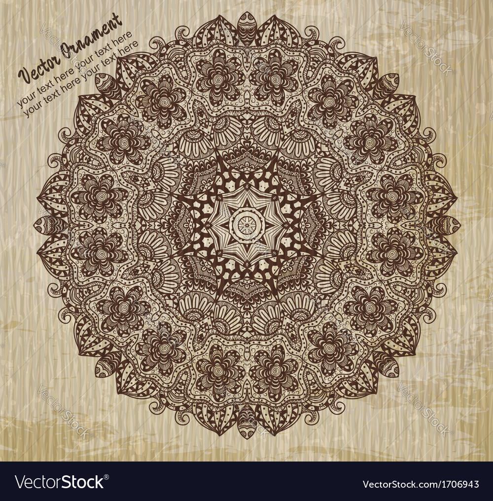 Ethnic vintage ornament background vector | Price: 1 Credit (USD $1)