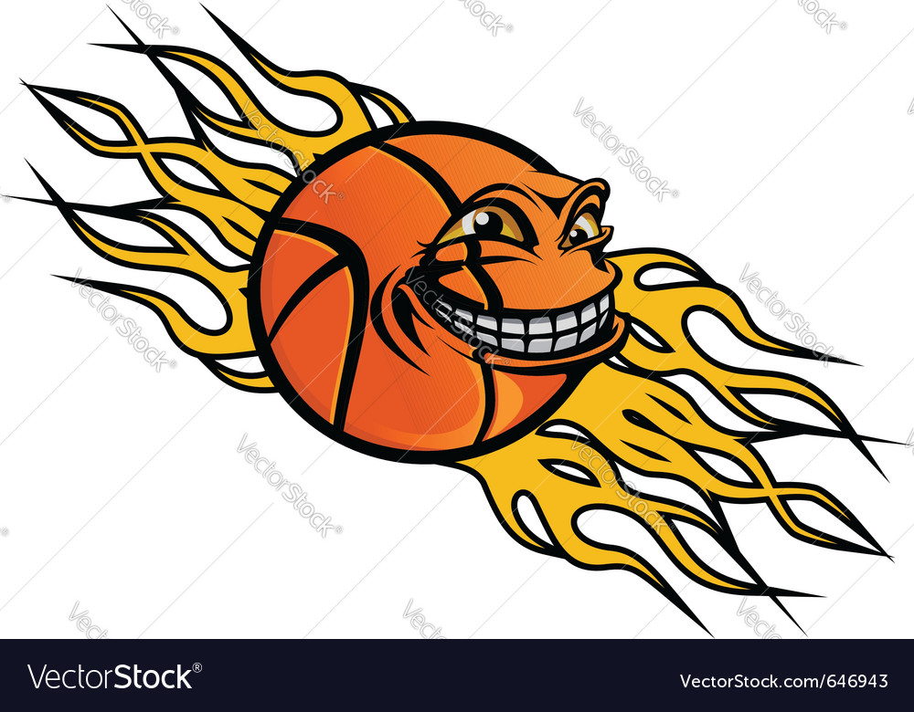 Flying basketball ball vector | Price: 3 Credit (USD $3)