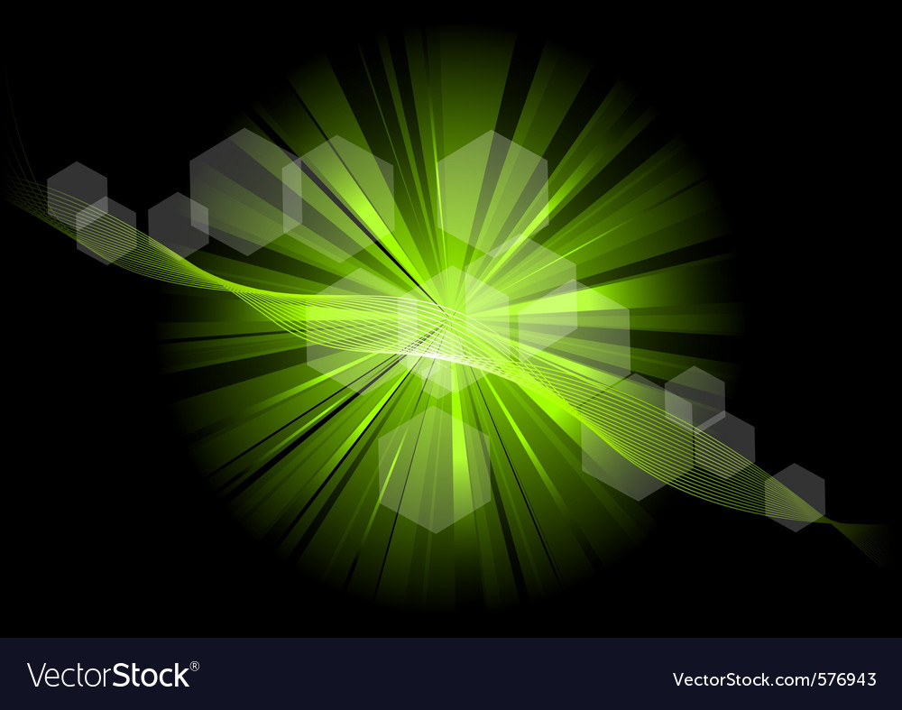 Green explosive on the black vector | Price: 1 Credit (USD $1)