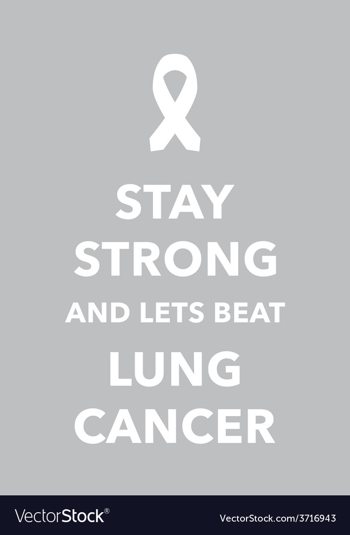 Lung cancer poster vector | Price: 1 Credit (USD $1)