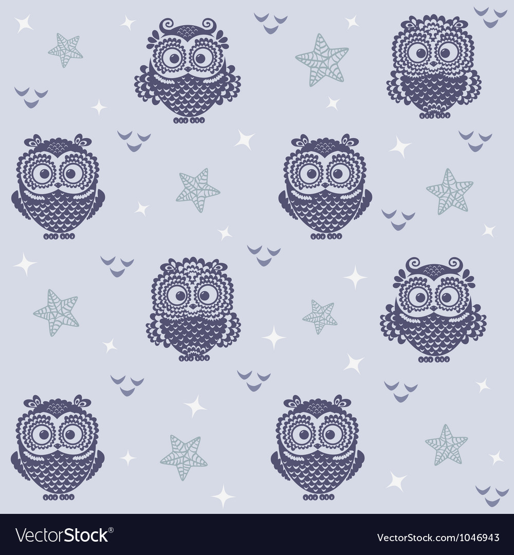 Owl wallpaper 2 vector | Price: 1 Credit (USD $1)