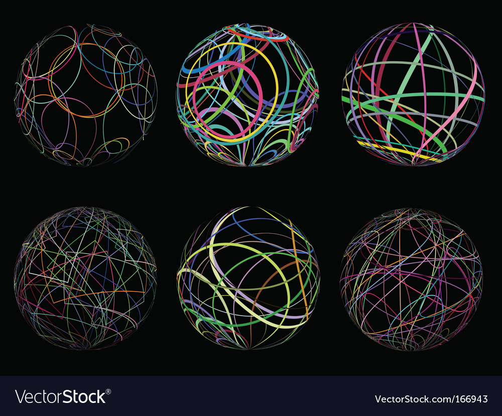 Scribble spheres vector | Price: 1 Credit (USD $1)