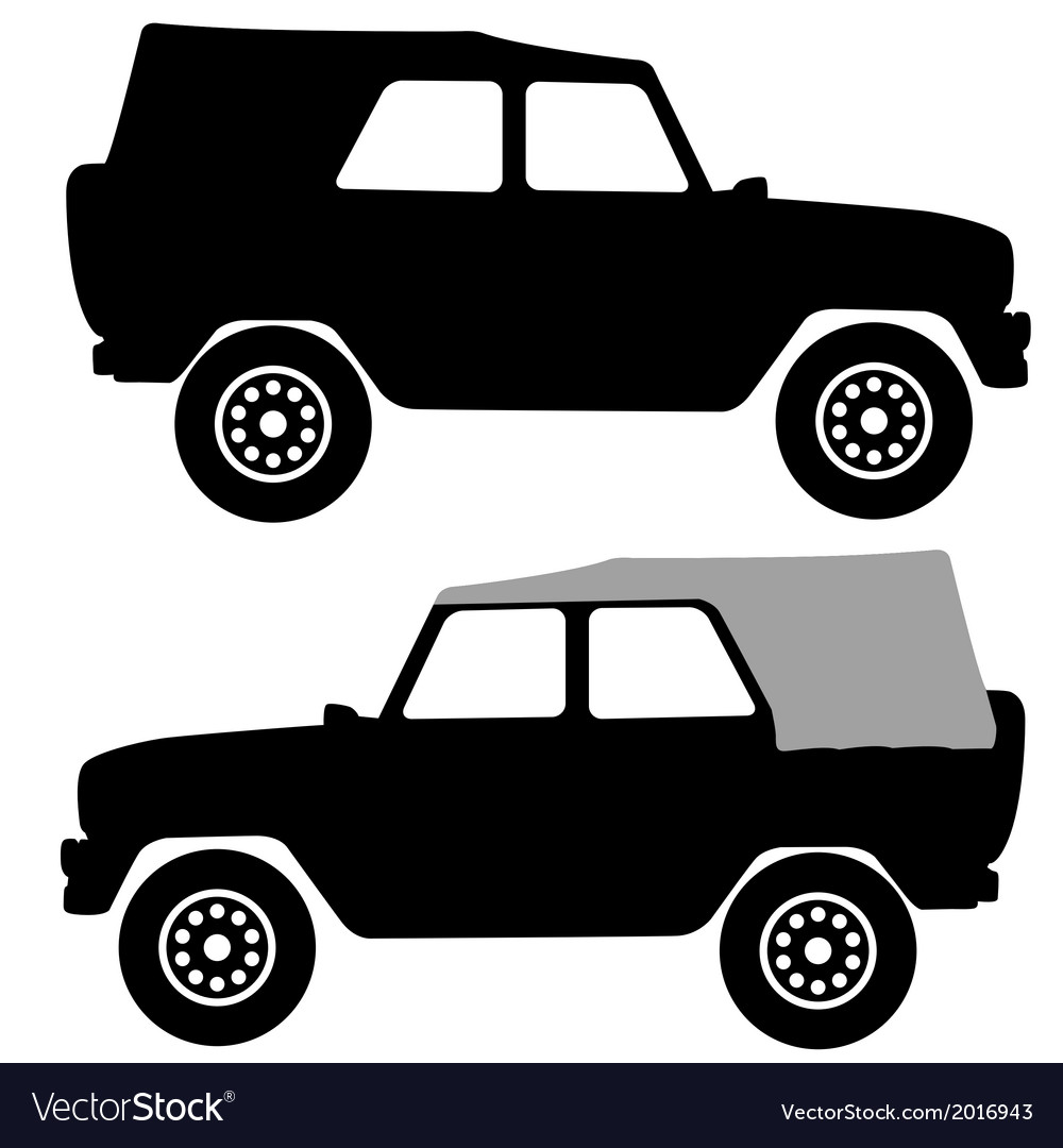 Set black silhouettes cars on white background vector | Price: 1 Credit (USD $1)