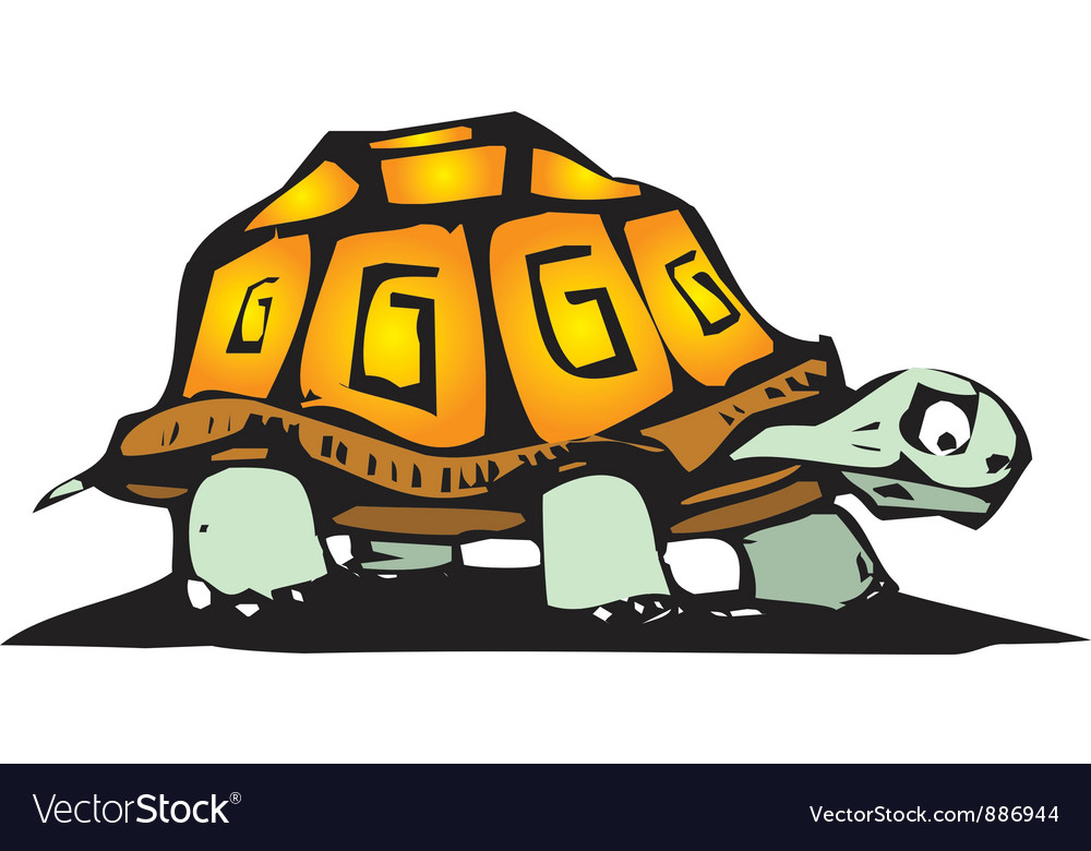 Box turtle vector | Price: 1 Credit (USD $1)