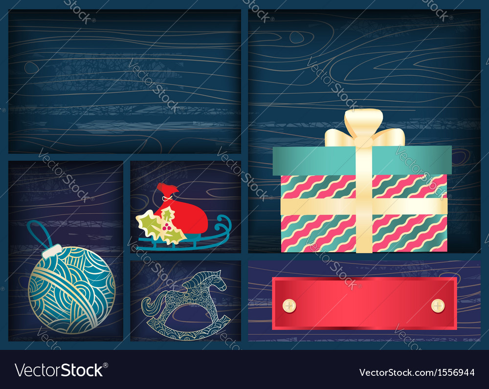 Box with christmas decorations vector | Price: 1 Credit (USD $1)