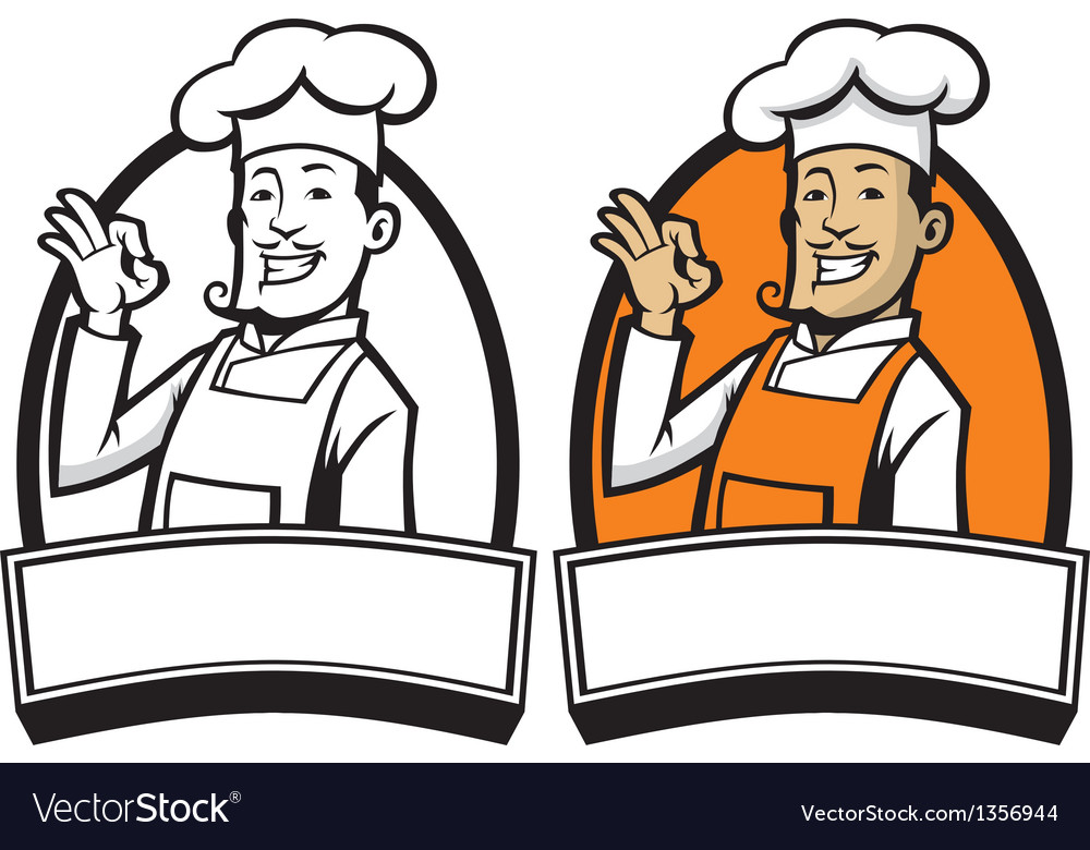 Chef with okay sign hand vector | Price: 1 Credit (USD $1)