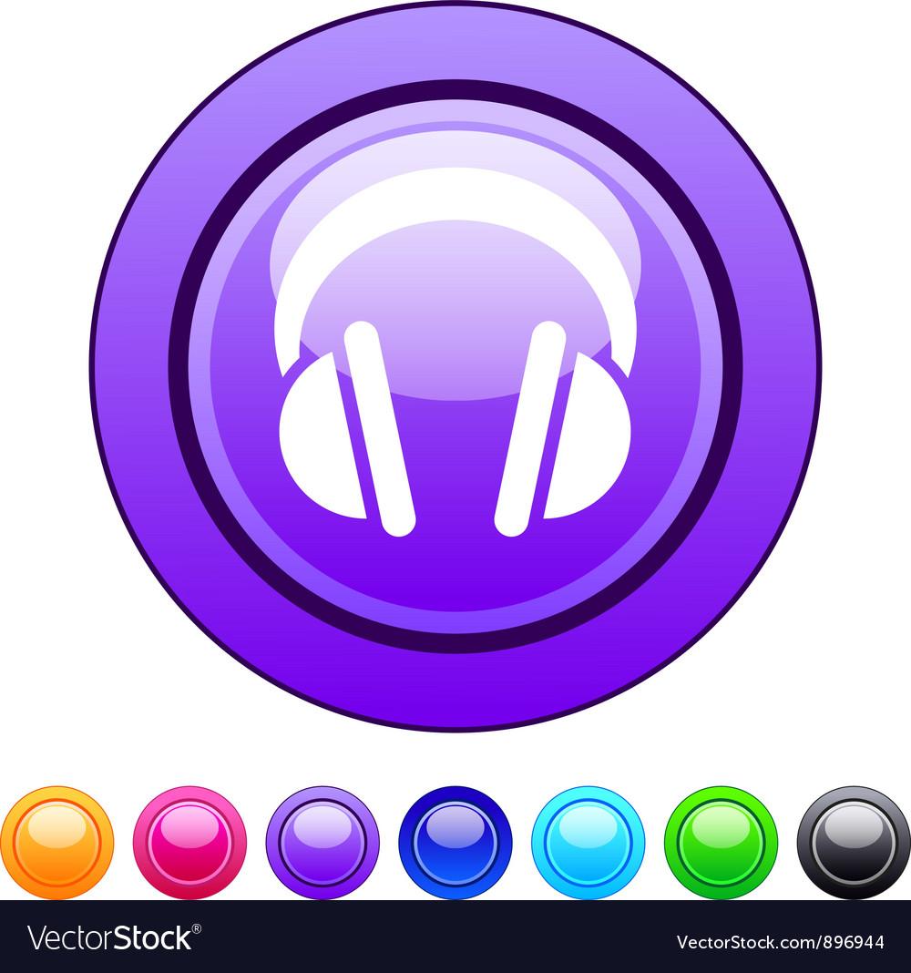 Headphones circle button vector | Price: 1 Credit (USD $1)