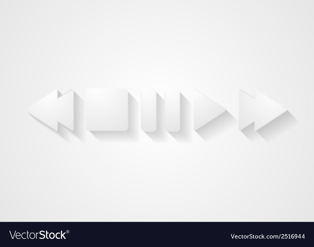 Media player abstract design vector | Price: 1 Credit (USD $1)
