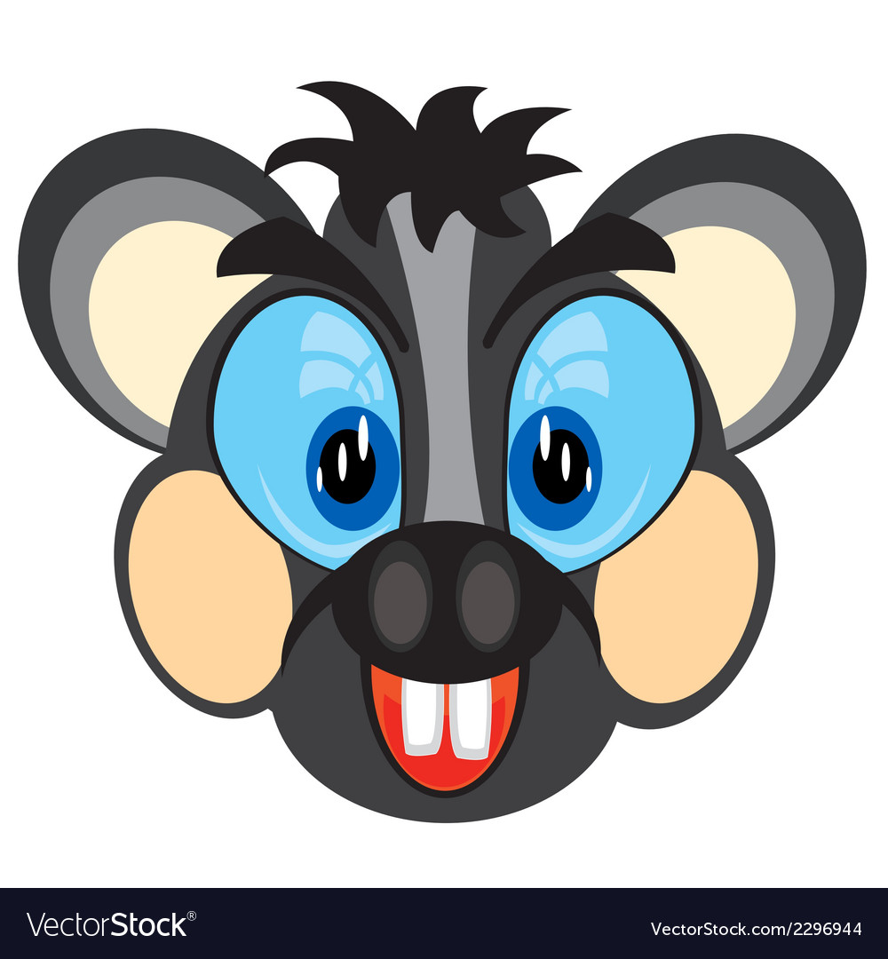 Mug animal mouse vector | Price: 1 Credit (USD $1)