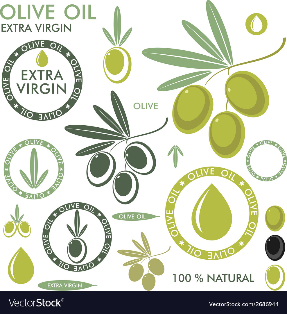 Olive set vector | Price: 1 Credit (USD $1)