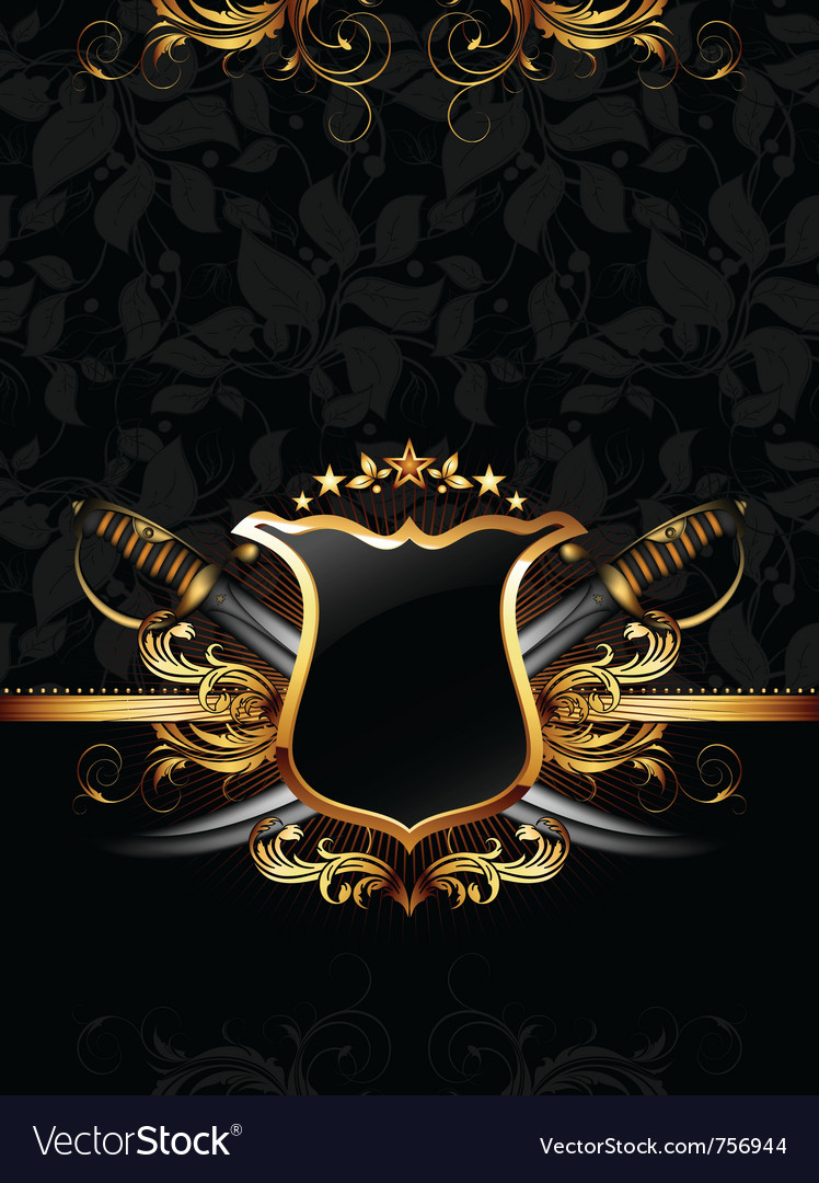 Ornate frame with sabers vector | Price: 3 Credit (USD $3)