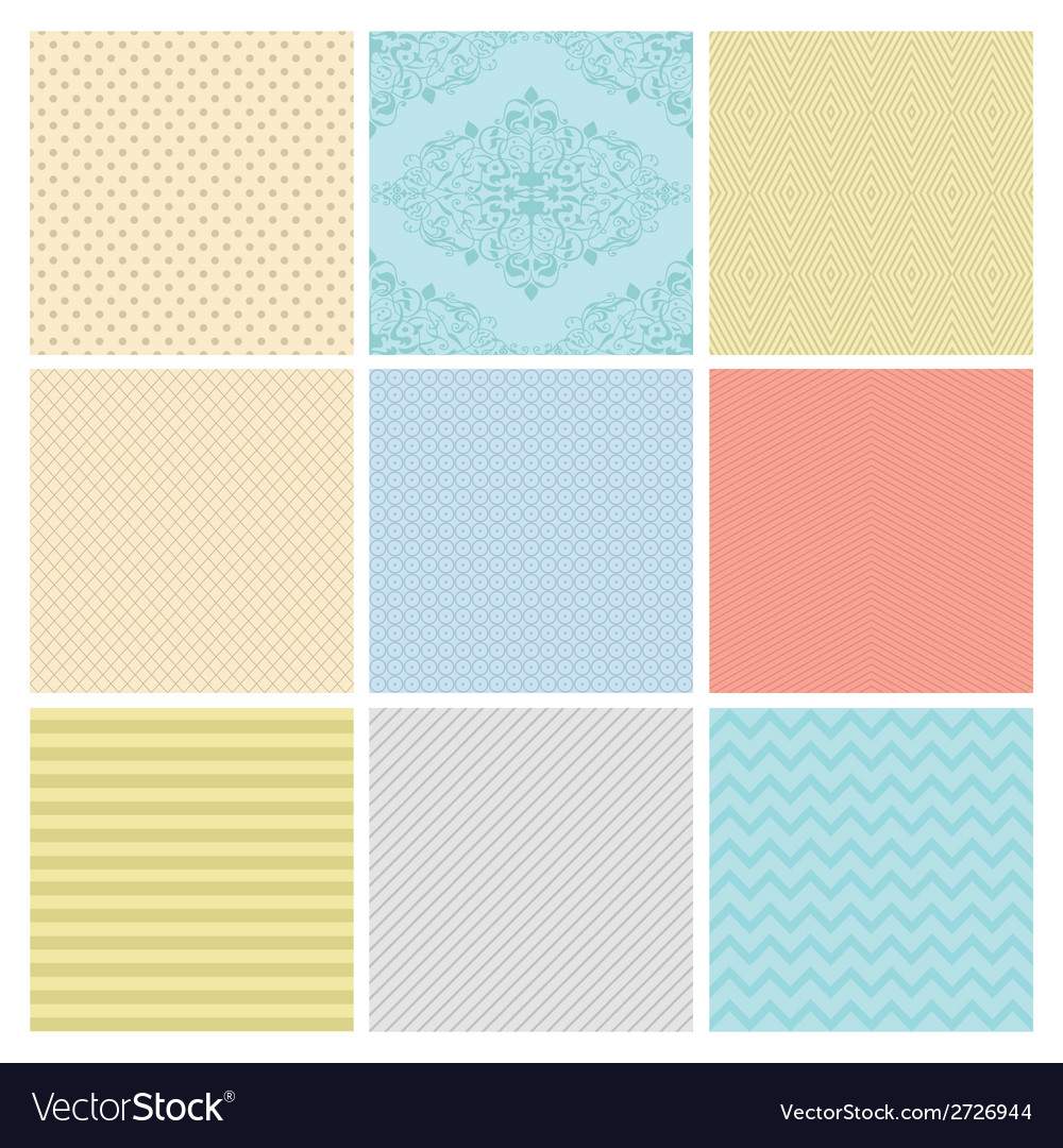 Seamless subtle geometric background set vector | Price: 1 Credit (USD $1)