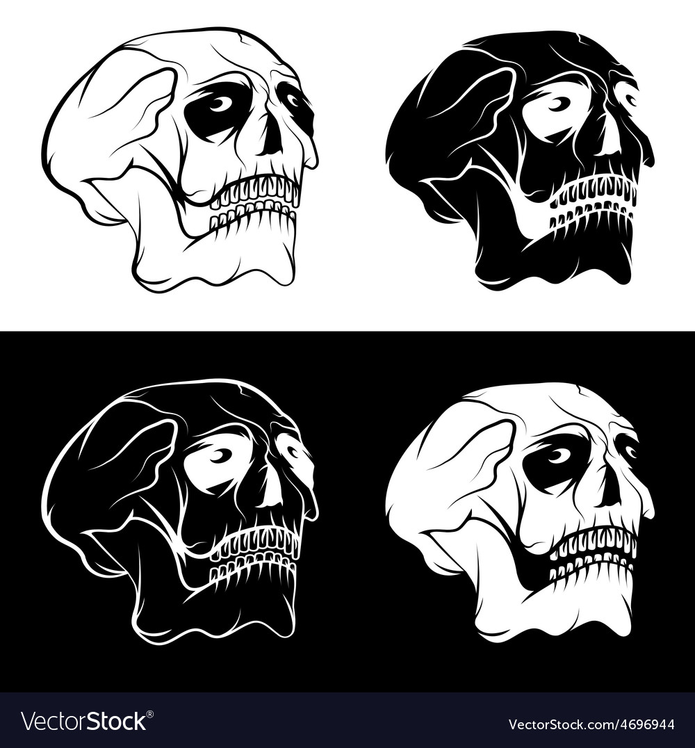 Set of skulls with eyes design template vector | Price: 1 Credit (USD $1)