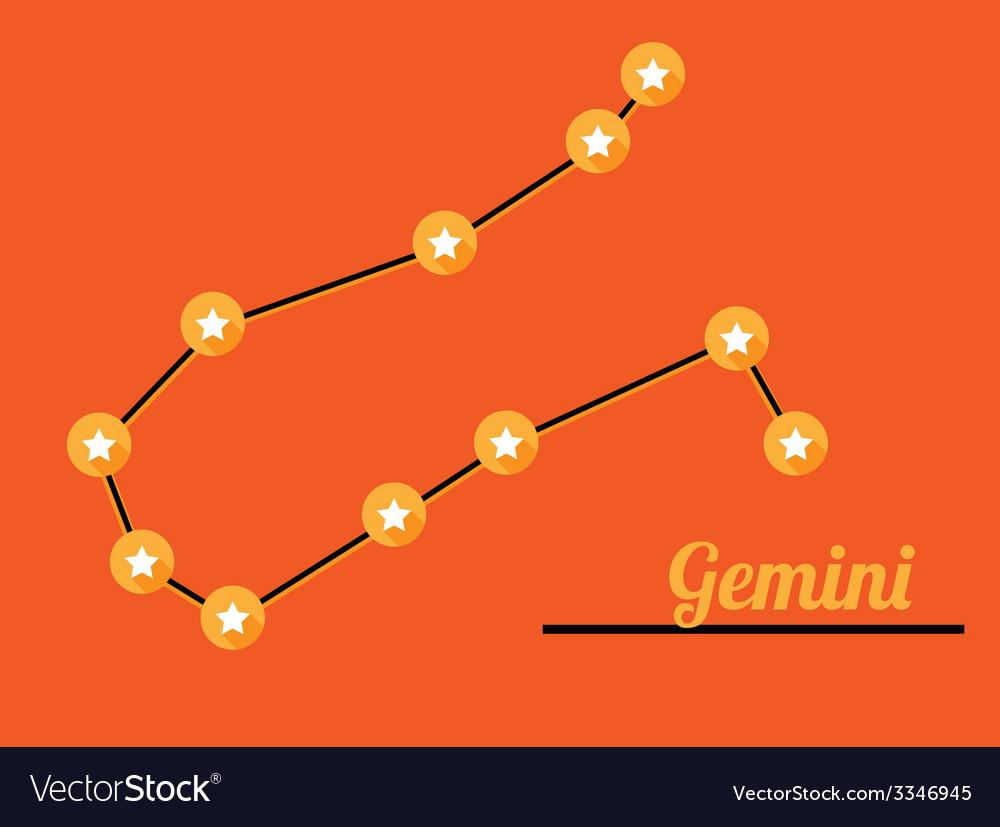 Constellation gemini vector | Price: 1 Credit (USD $1)