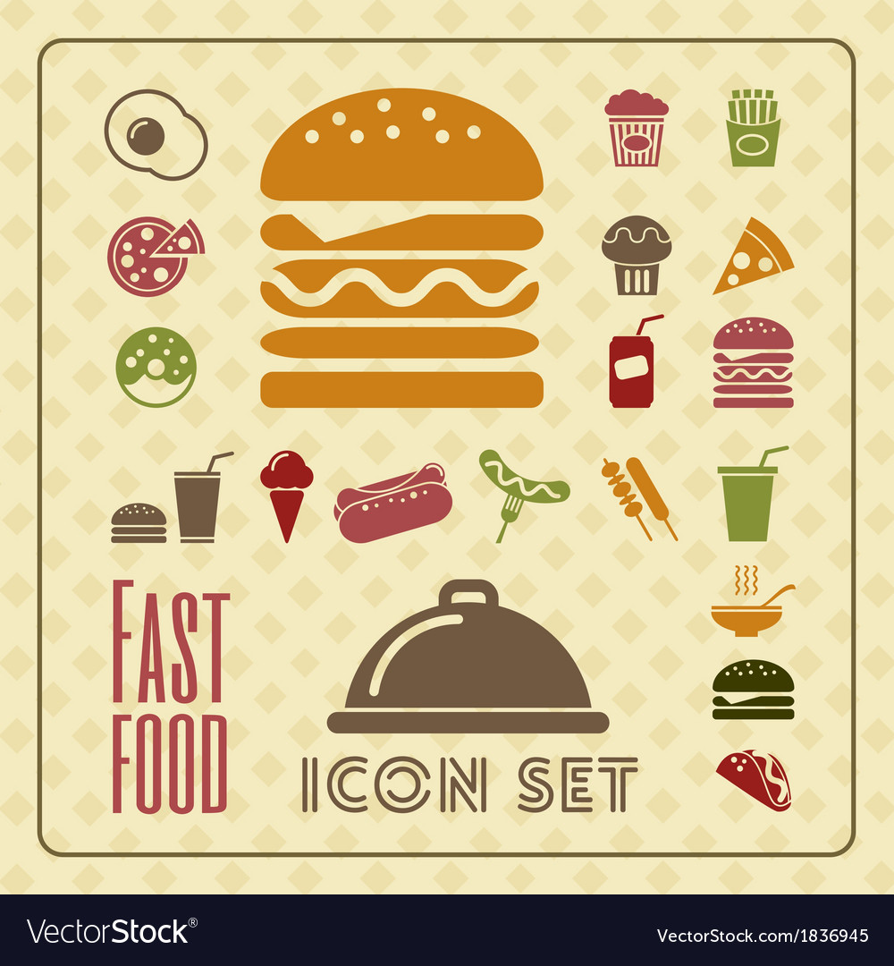Fastfood infographic template vector | Price: 1 Credit (USD $1)