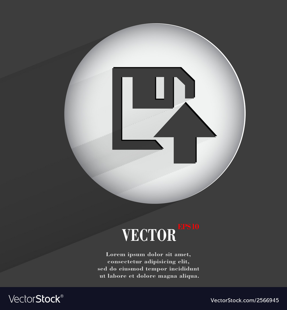 Floppy disk upload flat modern web button with vector   Price: 1 Credit (USD $1)