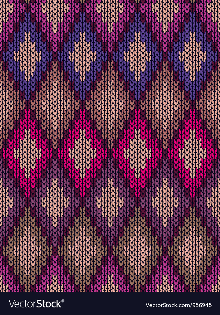 Knit woolen seamless jacquard ornament vector | Price: 1 Credit (USD $1)