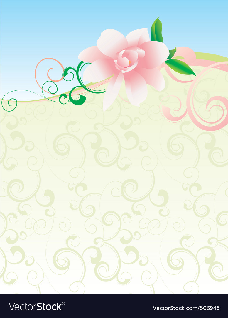 Pink flower nature picture vector | Price: 1 Credit (USD $1)