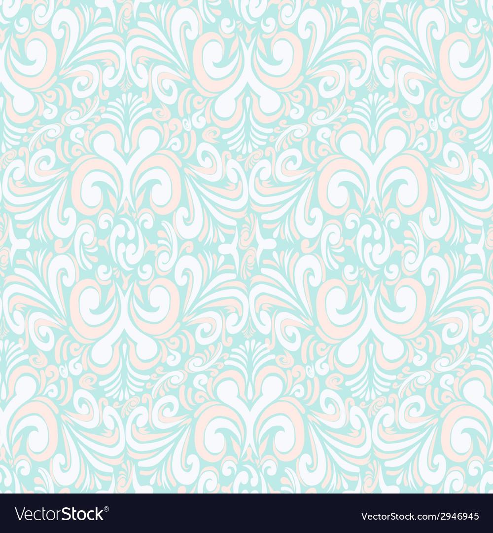Seamless vintage pastel blue background vector | Price: 1 Credit (USD $1)
