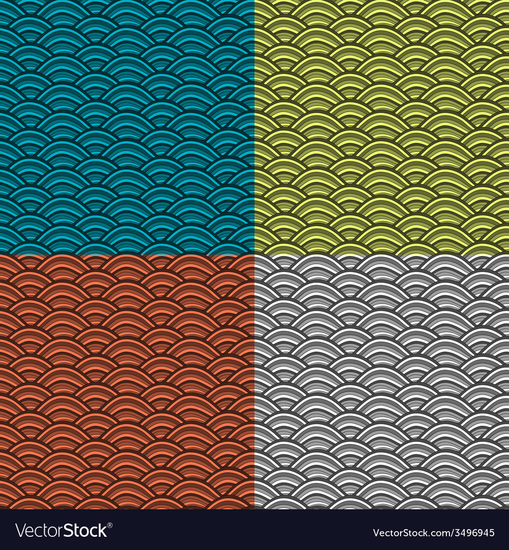 Set of abstract seamless pattern vector   Price: 1 Credit (USD $1)