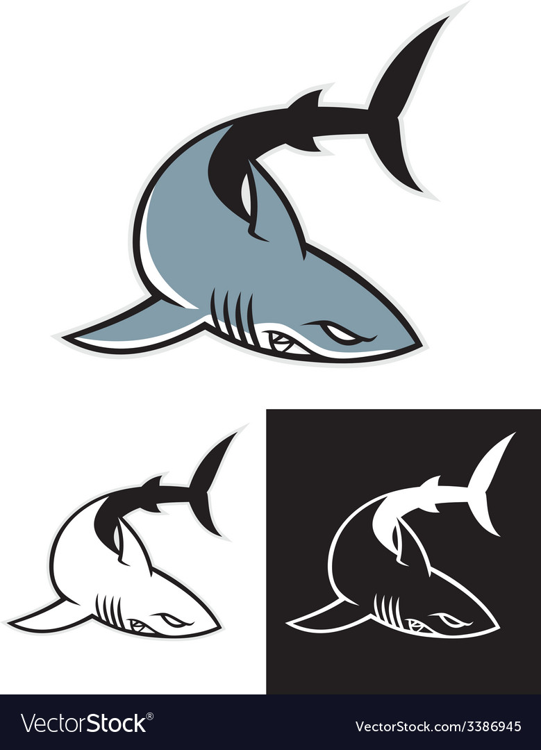 Simple shark mascot vector | Price: 1 Credit (USD $1)