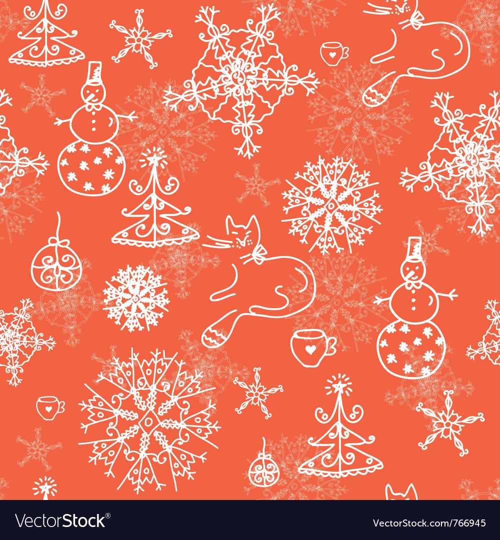 Snowflakes wallpaper vector | Price: 1 Credit (USD $1)