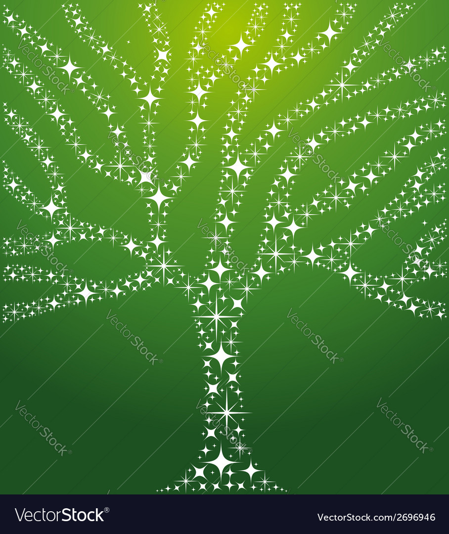 Abstract stars tree vector   Price: 1 Credit (USD $1)