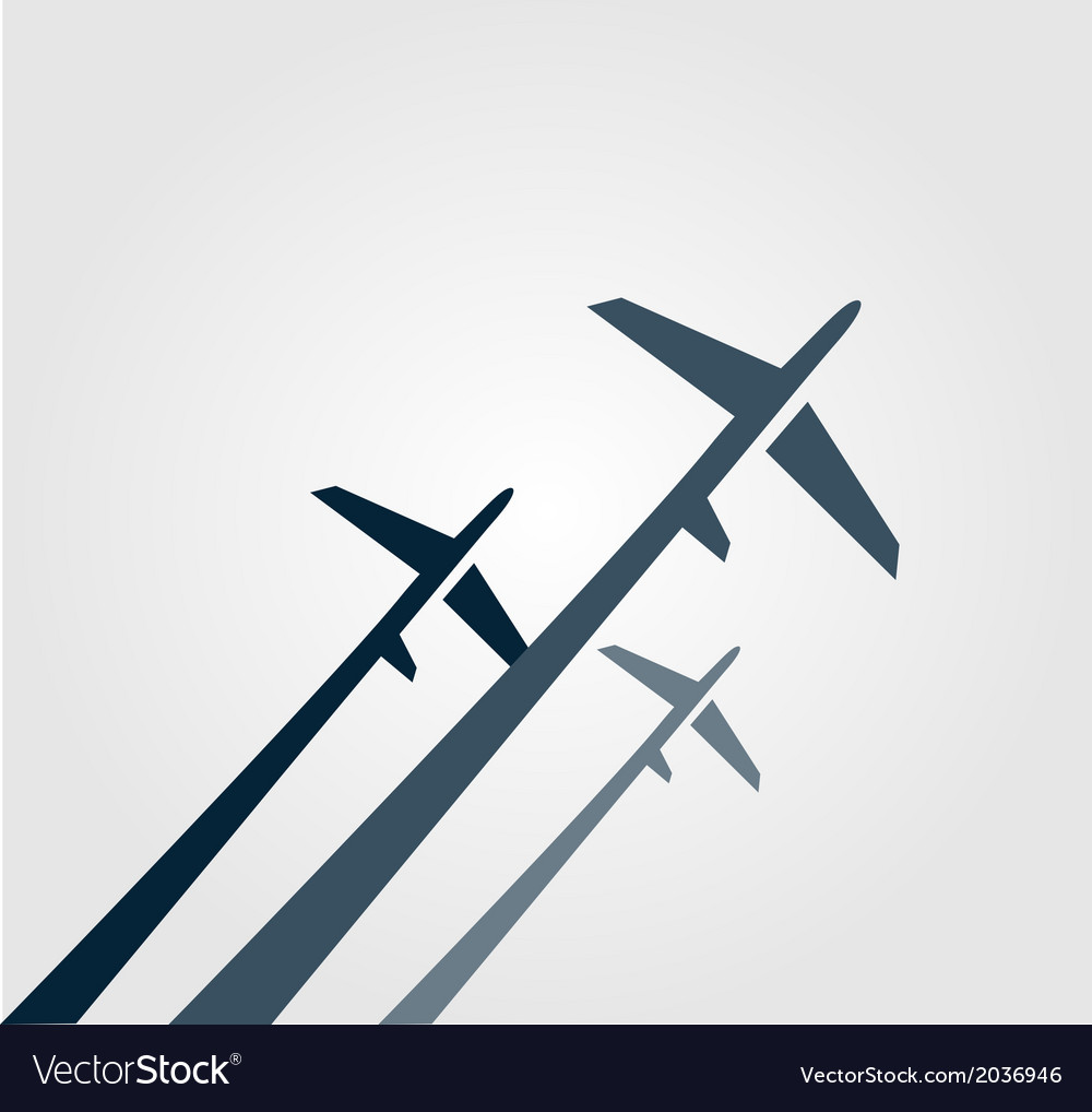 Airplanes background vector | Price: 1 Credit (USD $1)