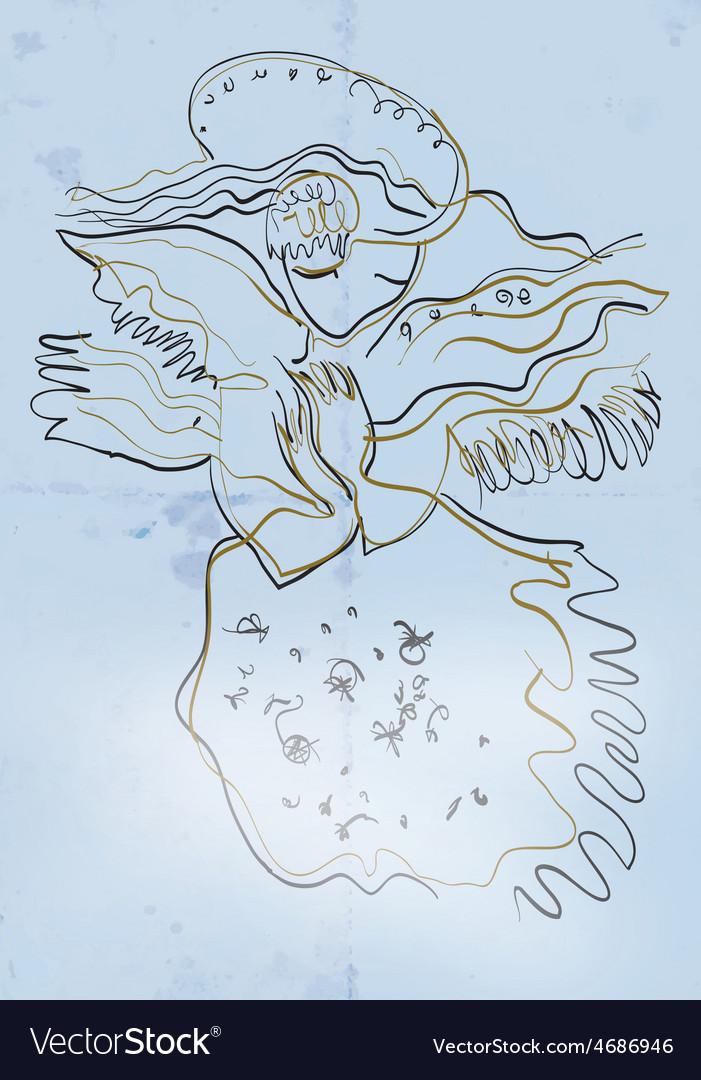 Art of line art - angel vector | Price: 3 Credit (USD $3)