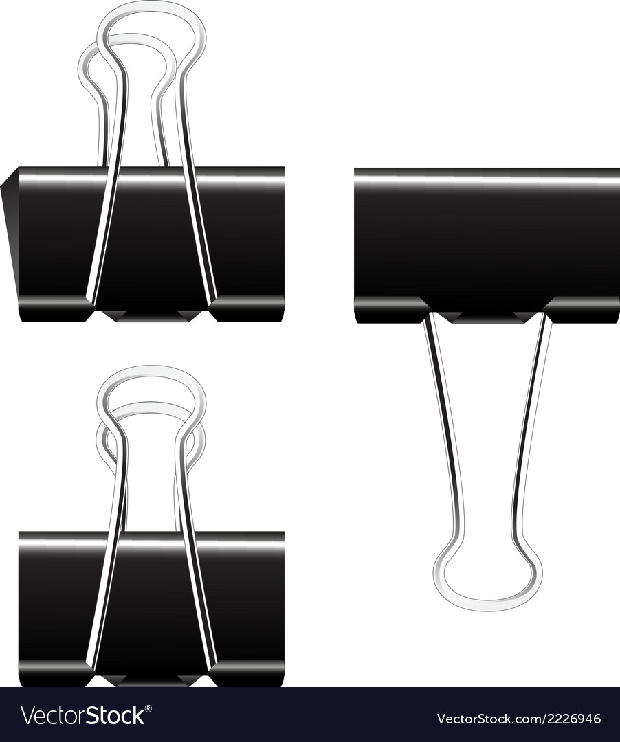 Black paper binder clip vector | Price: 1 Credit (USD $1)