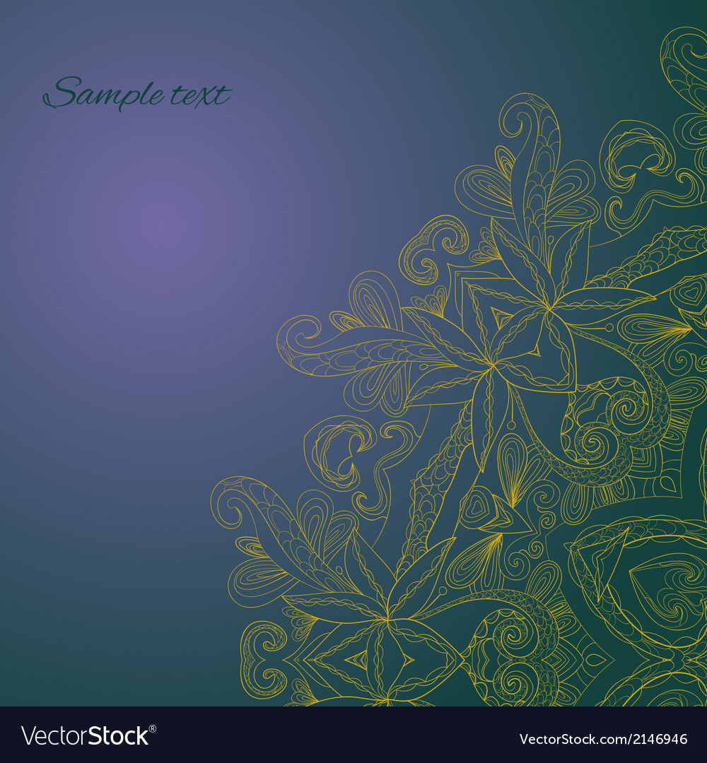 Circle lace hand-drawn ornament card vector | Price: 1 Credit (USD $1)