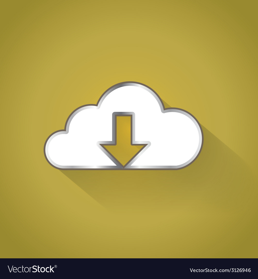 Cloud downloading vector | Price: 1 Credit (USD $1)