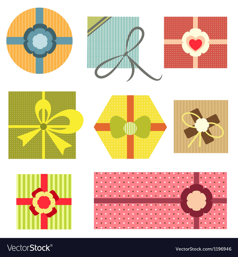 Collection of present boxes vector | Price: 1 Credit (USD $1)