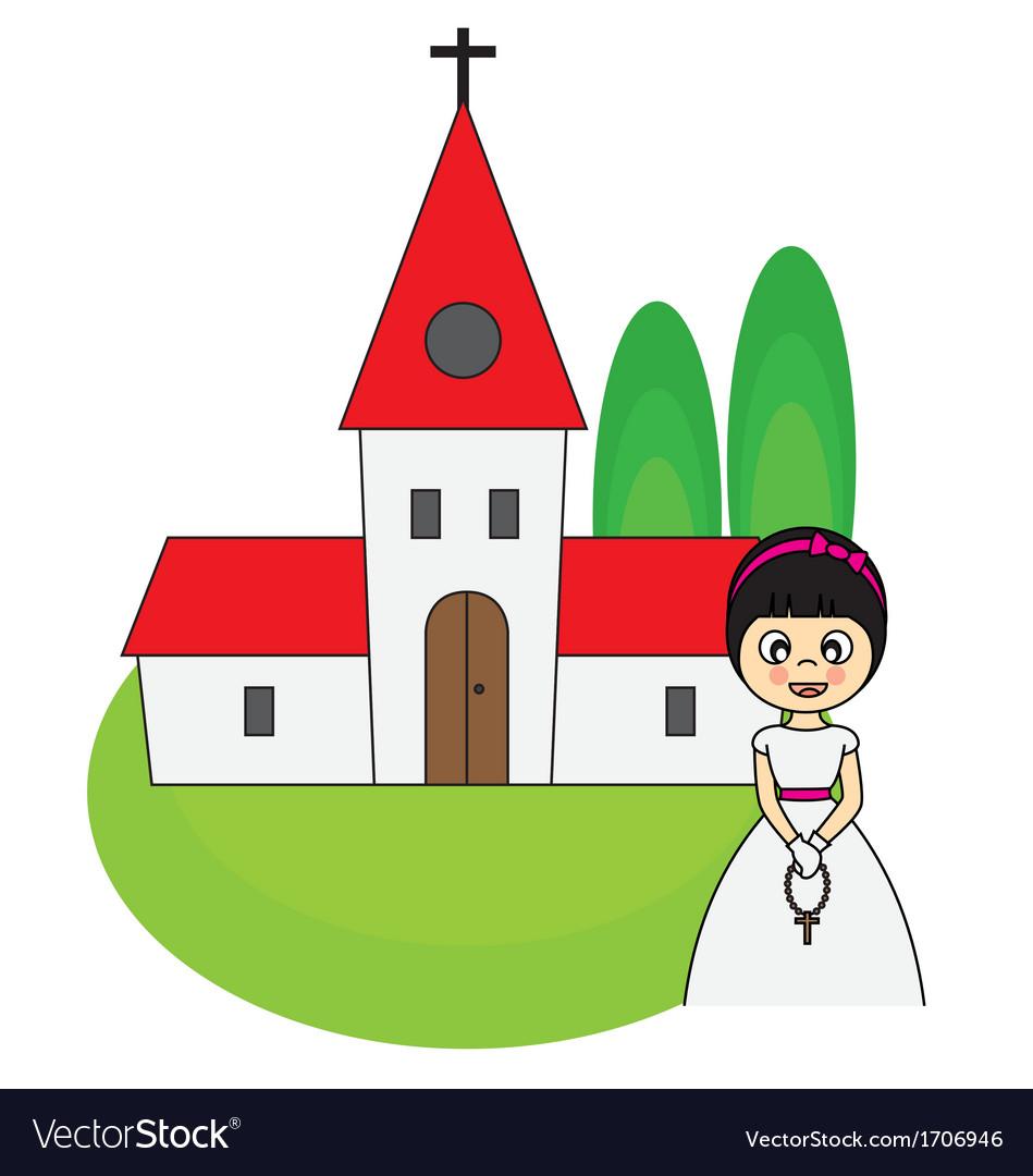 Communion invitation card vector | Price: 1 Credit (USD $1)