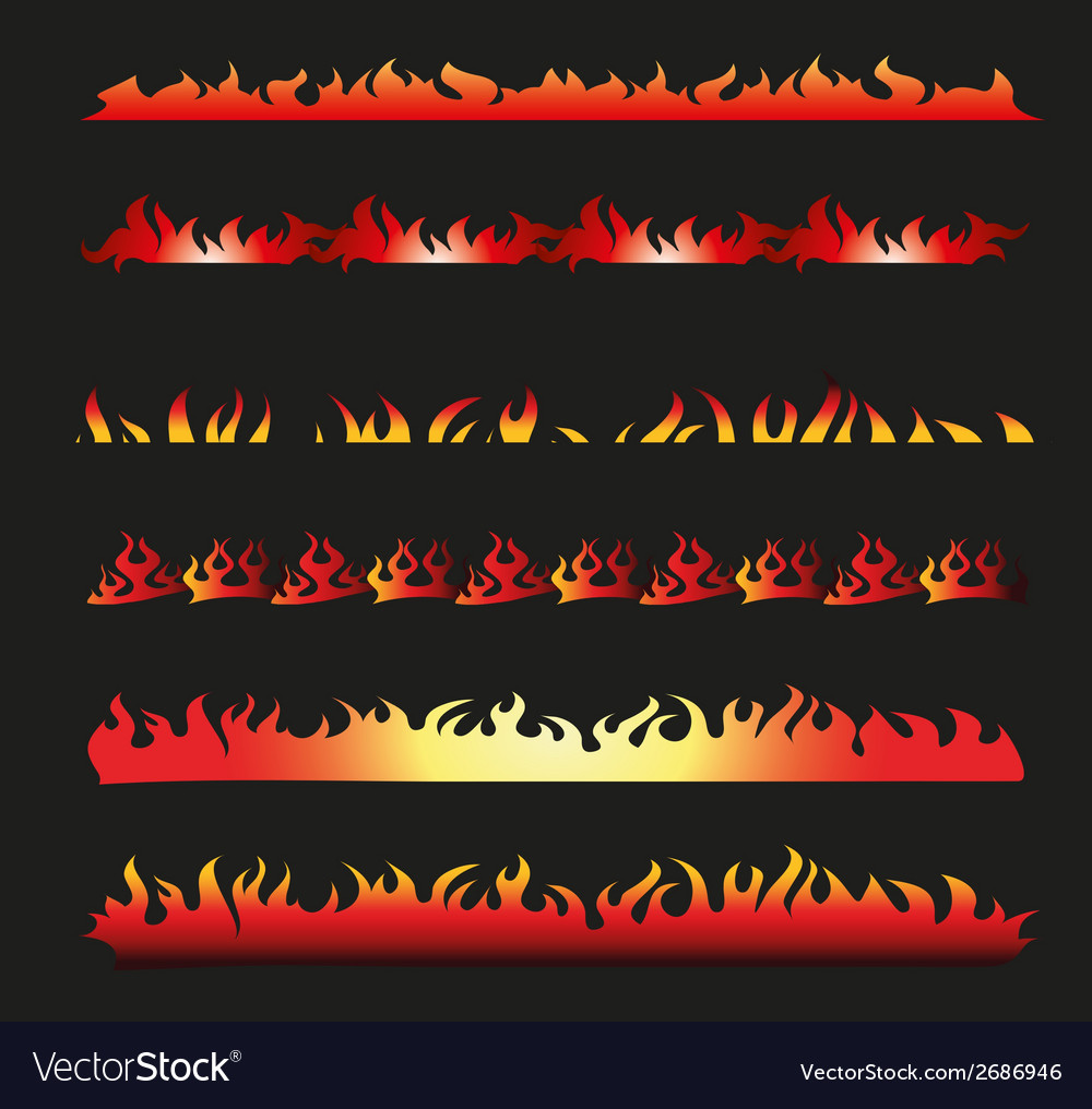 Flame frame vector | Price: 1 Credit (USD $1)