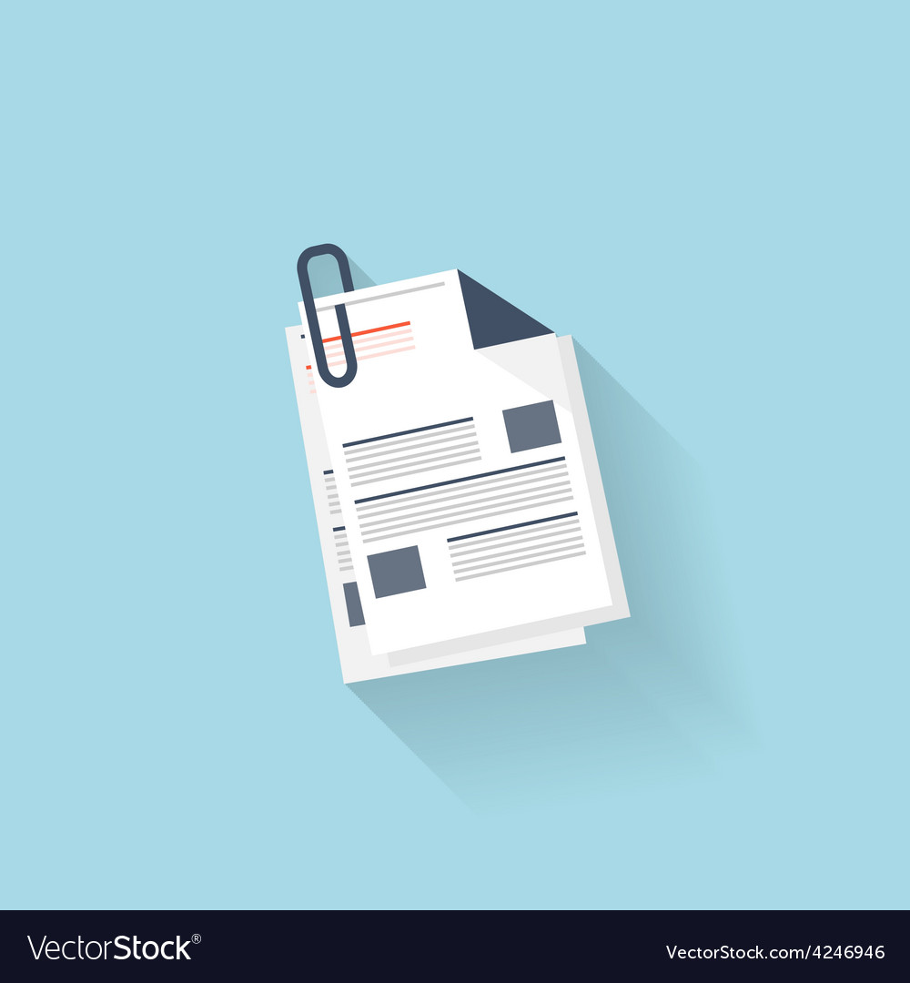 Flat web icon news blank vector
