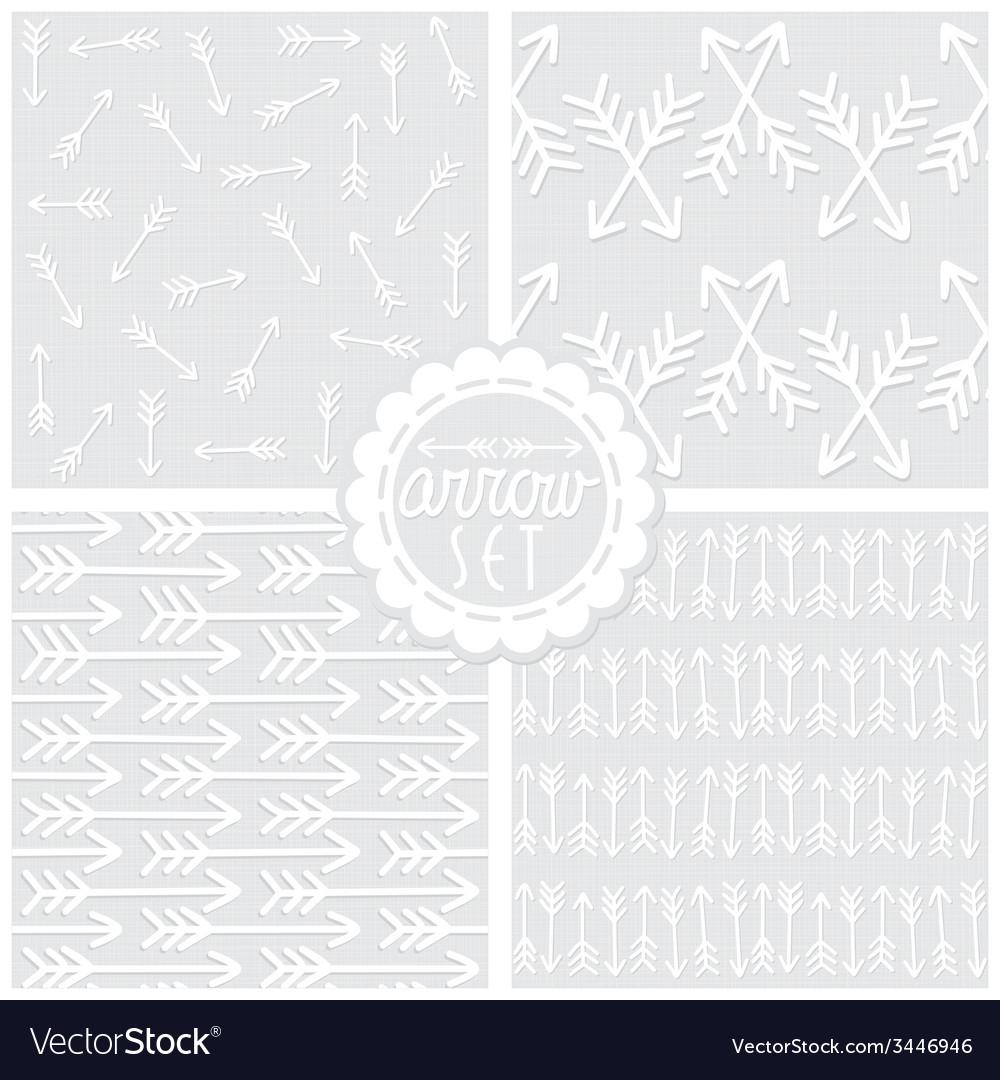 Graymonochromepatternarrowset vector | Price: 1 Credit (USD $1)