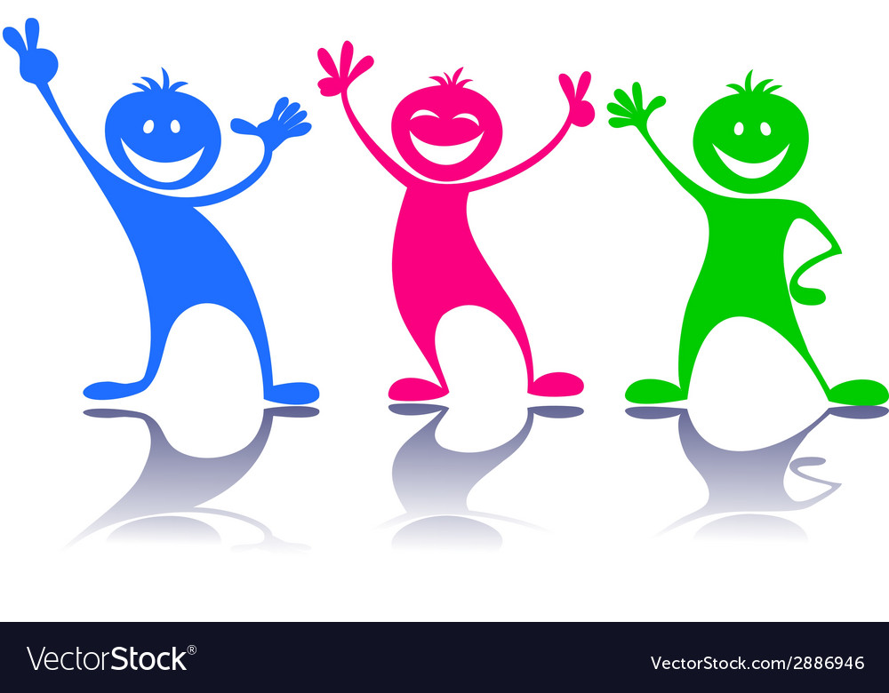 Happy peoplechildren vector | Price: 1 Credit (USD $1)