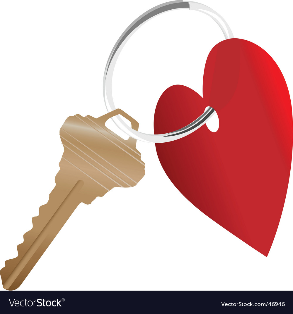 Heart symbol and house key vector | Price: 1 Credit (USD $1)
