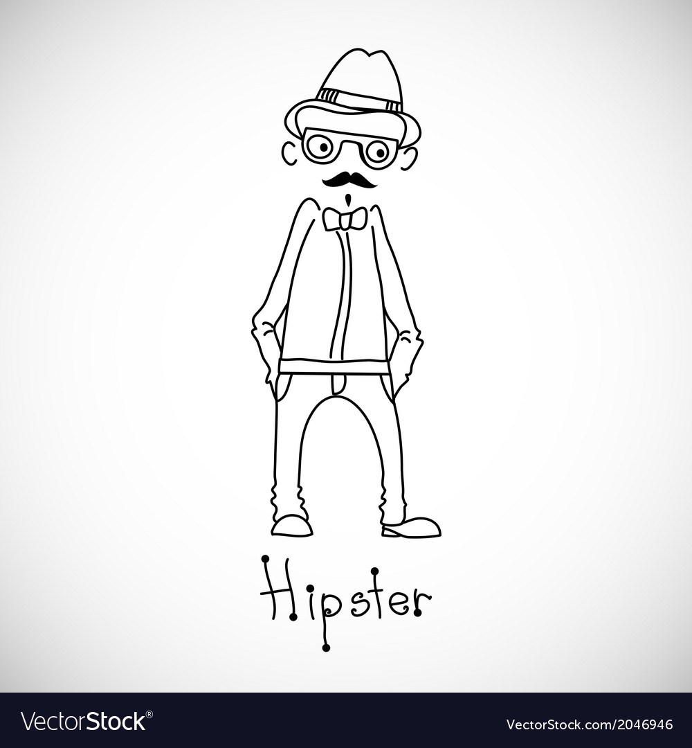 Hipster character design vector   Price: 1 Credit (USD $1)