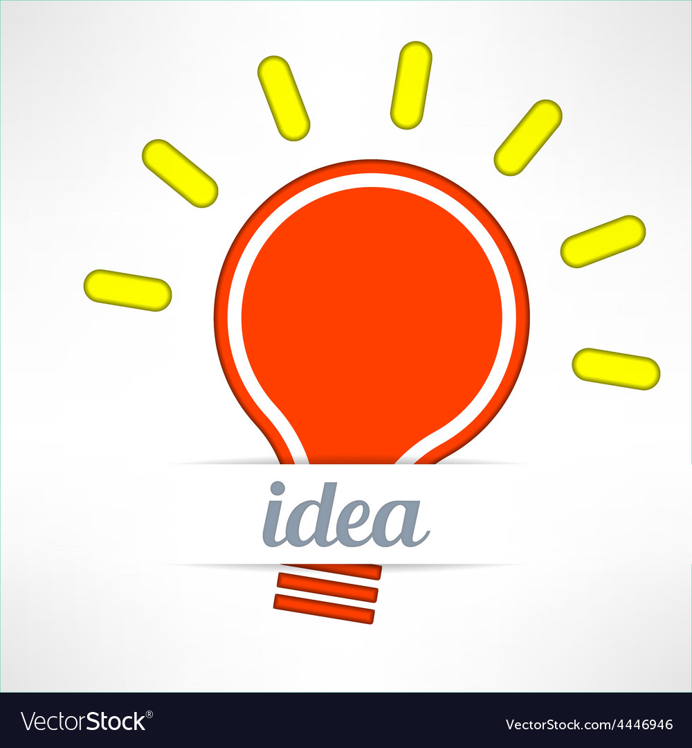 Light bulb inspirational background in modern vector | Price: 1 Credit (USD $1)