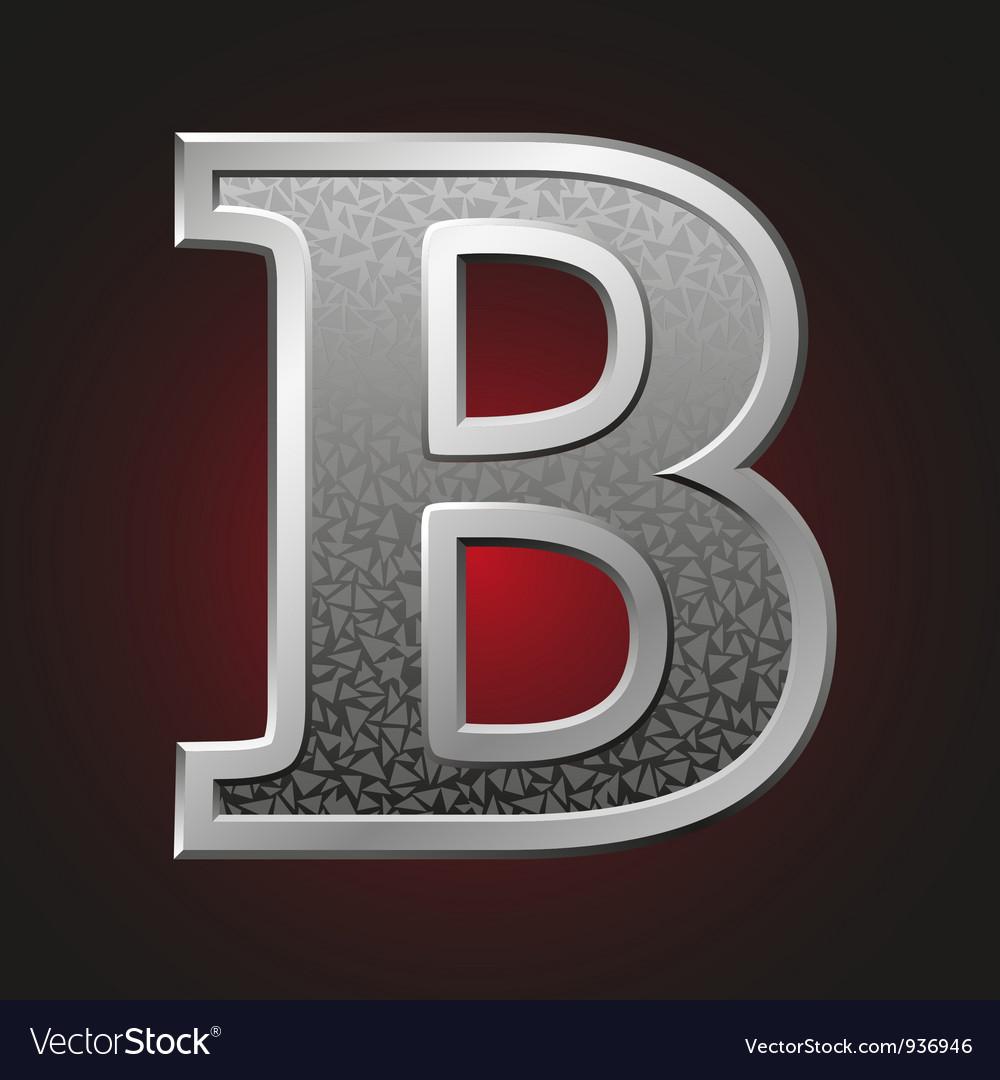Metal letters b vector   Price: 1 Credit (USD $1)