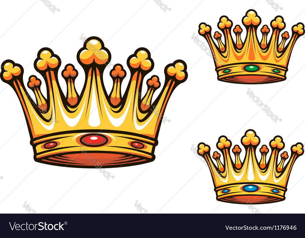 Royal king crown vector | Price: 3 Credit (USD $3)