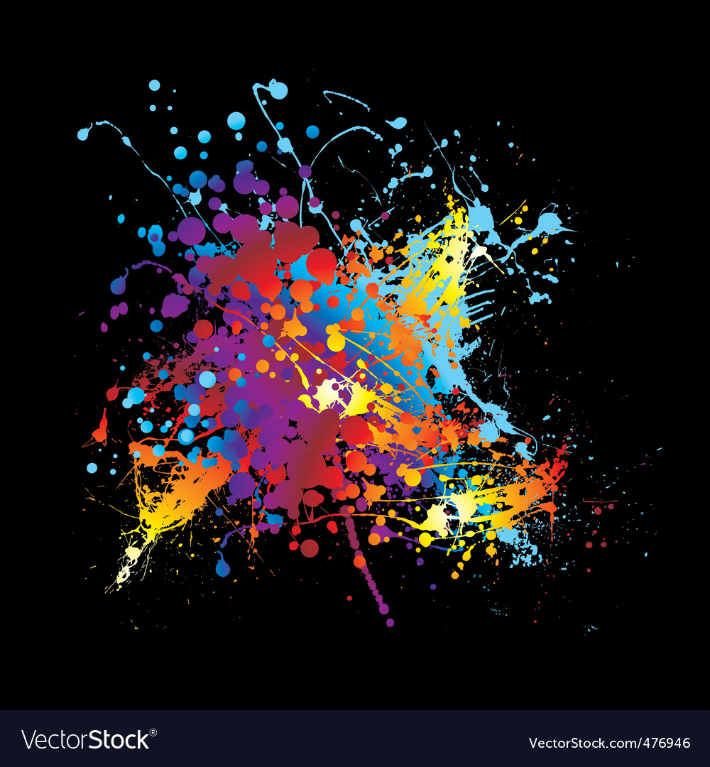 Splat ink rainbow vector | Price: 1 Credit (USD $1)
