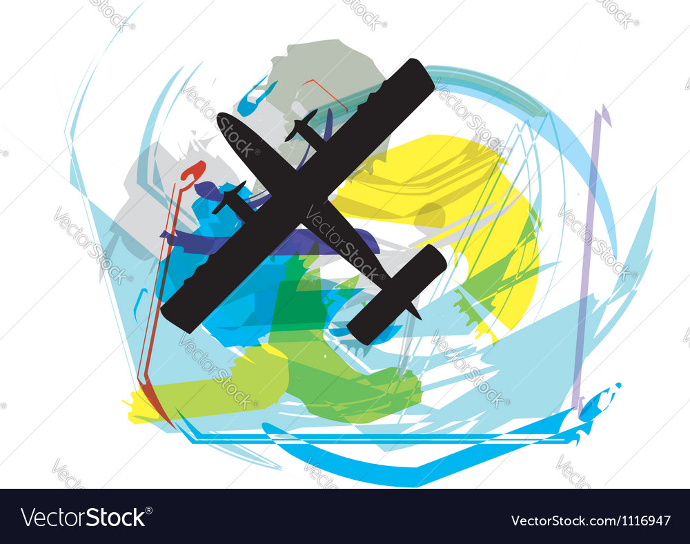 Abstract airplane vector | Price: 1 Credit (USD $1)