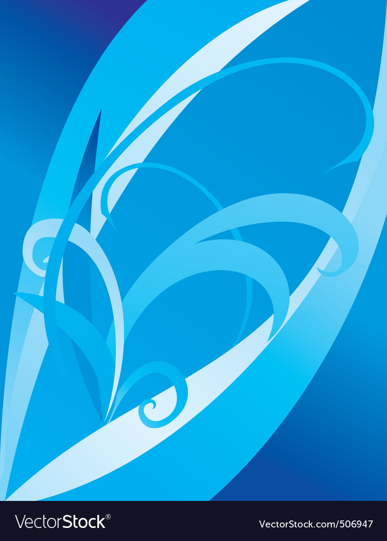 abstract cyan or blue curves vector | Price: 1 Credit (USD $1)